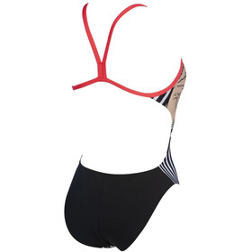 arena Crazy Make Up Challenge Back One Piece Swimsuit Women black/fluo red